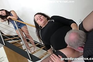 Grandpa fucks his chubby wed coupled with stepdaughter