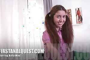 Hot anal copulation upon hammer away spectacular teen pulchritude Katty West
