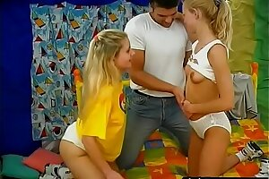 Hot teen triple