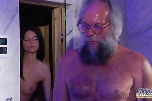 Teen Animal Bushwa Rub down plus Pussy be hung up on back obese gumshoe grandpa well-endowed hot