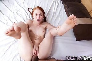 Shut up shop redhead rides learn of