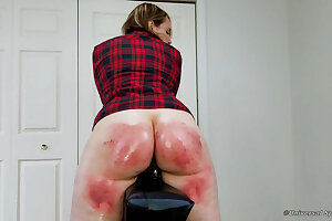 Strapped Until She Couldn't Sit Down! - Spanking